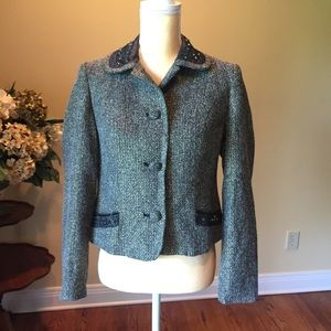 Kate Hill sequin and beaded detail blazer EUC 6P